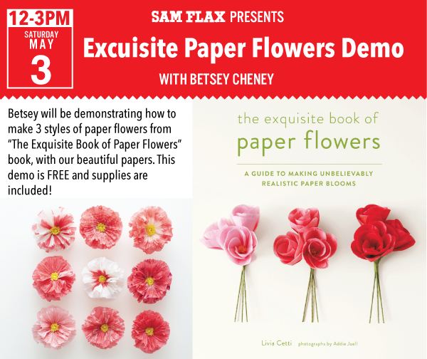 This saturday paper flower making demo the official blog for sam flax this saturday paper flower making demo mightylinksfo